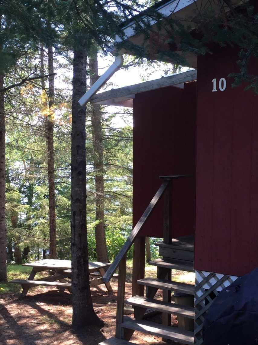 Cabin 10 Exterior Close Up | Tyc's Blindfold Lake Resort