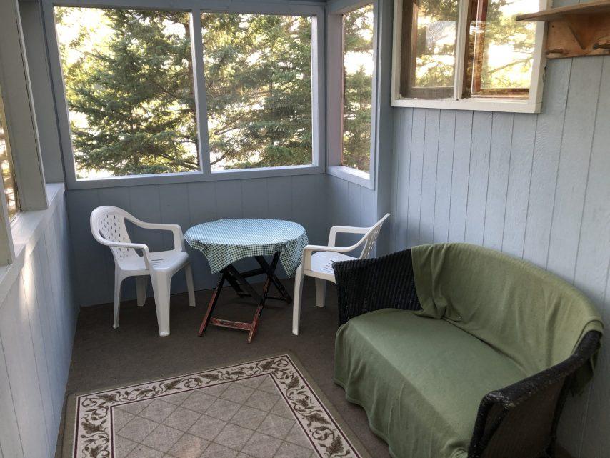 Cabin 7 Porch | Tyc's Blindfold Lake Resort